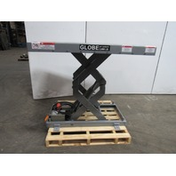 "Globe 2000LB Scissor Lift Table 48""x48"" Top 7-1/2""-46"" Lift 208-230/460V 3Ph"