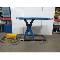 "Vestil 6000 LB. Lift Table Scissor Lift 96""x48"" Top 7-1/2""-61""Ht."