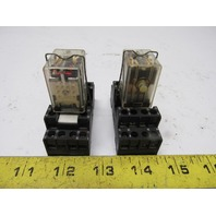 A-B Allen Bradley 700-Hc24z24-1-4 Ser. A  Relay 24 VDC w/700-HN103 Base Lot of 2