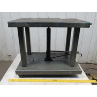 "Wesco LTL-20-2436 2000 LB Lift Table Die Cart 24""x36""Top & 31""-47""Ht. On Casters"