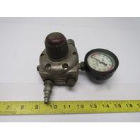 DeVilbiss Vintage Industrial 3 Way Regulated Manifold Air Regulator W/Gage