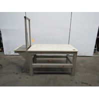 "50""x29""x35H"" Laminate Top Aluminum 80/20 Machine Base Work Bench Table"