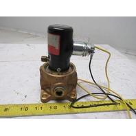 "Humphrey 500AE1 2 10 24VDC 0-125 PSI 1/2"" Ports 3 Way Brass Valve"