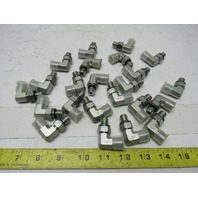 "9/16""-18 to 7/16""-20 90 Degree Hydraulic Fitting Plated Steel Lot of 23"