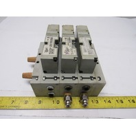 Numatics 062BA415M000061 Triple Pneumatic 24V Solenoid Block 120PSI