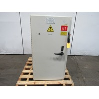 """48x26x18"""" Electrical Enclosure W/Back Plate & Allen Bradley 60A Fused Disconnect"""