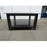 "H.D. 1/2"" Thick Top Steel Fabrication Layout Welding Table Work Bench 59"" x 59"""