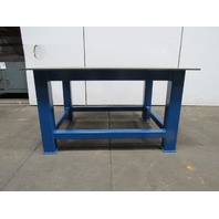 "H.D. 1/2"" Thick Top Steel Fabrication Layout Welding Table Work Bench 59"" x 47"""