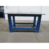 "H.D. 3/4"" Thick Top Steel Fabrication Layout Welding Table Work Bench 60"" x 39"""