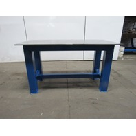 "H.D. 1/2"" Thick Top Steel Fabrication Layout Welding Table Work Bench 59"" x 29"""