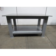 "H.D. 1/2"" Thick Top Steel Fabrication Layout Welding Table Work Bench 60"" x 36"""