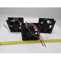 Sanyo Denki 91-8478 109S078UL 200V 120mm Square Cabinet Cooling Fans Lot Of 3