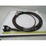 "Crosby 8686-10-2 7/16 6x25 Wire Rope Single Leg 7/16"" IWRC Core Clevis 40'"