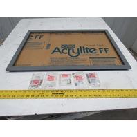 """Hoffman A-PWK2919NF 31-1/2x21-1/2"""" Steel Frame Enclosure Window Kit"""