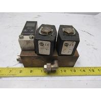 Norgren 9521663381102400 Solenoid Operated Valve Manifold Pressure Sensor 24V