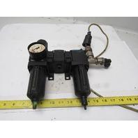 "Vickers Inline Filter Lubricator Regulator FRL 1/2"" Ports"