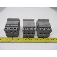 Buss CHCC3 30A 600V 3 Pole Class CC Fuse Holder Lot OF 3