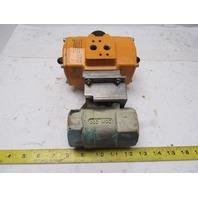 "El-O-Matic ED0040.U1A00A.14K0 Pneumatic Actuator W/1-1/2"" NPT Brass Ball Valve"