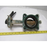 """Stockham LG712-BS3-EM 3"""" Lug Type Butterfly Valve W/Manual Hand Lever Actuated"""