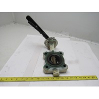 """Stockham LG712-BS3-EM 2-1/2"""" Lug Type Butterfly Valve W/Hand Lever Actuated"""