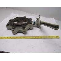 """Milwaukee ML323B A U 6"""" Lug Type Butterfly Valve W/Manual Hand Lever Actuated"""