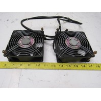 NMB 4715PS-22T-B30 220V 50/60Hz 1 Phase Cooling Fan Lot Of 2