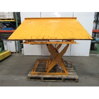 "Econo Lift 3000Lb Scissor Lift 26° Tilt/Dump Table 100x72"" 12-3/8"" to 47-3/8"""