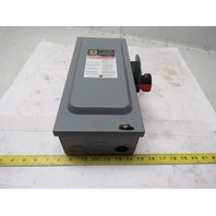 Square D HU361 30amp 600VAC/ 600VDCSafety Switch Disconnect Non-Fused