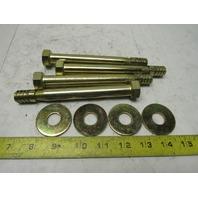 "Supertanium Alloy 5/8"" x 6"" Concrete Wedge Anchor Bolts Lot Of 4"