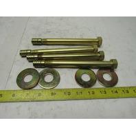 "Rotanium Supertanium Alloy 5/8"" x 7"" Concrete Wedge Anchor Bolts Lot Of 4"