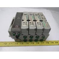 Numatics 122BA400M000061 Pneumatic Solenoid 4 Valve Bank Assembly 24VDC 150psi