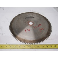 "Simonds 14"" 100T 1-1/4"" Arbor Cross Cut Circular Saw Blade"