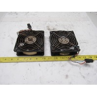 EBMPAPST 4414/12 M 24V Cooling Fan W/Grate Lot of 2