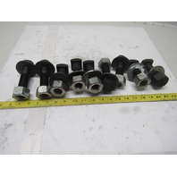 """1-8 x 3-1/2"""" OAL Square Head Bolts Lot Of 9"""