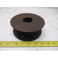 """6"""" Carbon Steel V-Groove Roller 2-3/4"""" Wide 1-3/4"""""""