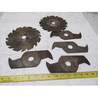 "8"" Assorted Lot Of Wood Cut Dado And Circular Dado Saw Blades Lot Of 6"
