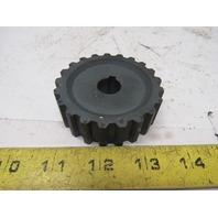"R&M Material Handling 2211627001 21T 5/8"" Bore 2-1/4"" OD 7/8 Brake Hub Spur Gear"