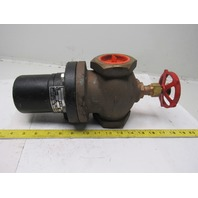"""Magnetron MO36A-47 2"""" Brass Solenoid Valve W/ Manual Override 120V"""