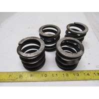 """Die Springs 2-3/8"""" Tall 1-23/32"""" ID 3/8"""" Wire Lot Of 4 Uncoated Steel"""