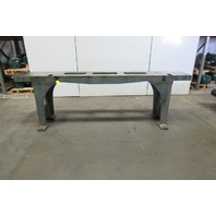 "Webbed Cast Iron Machine Base Welding  Work Table Bench 117""x18-1/4""x35-1/2""H"