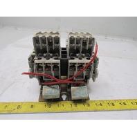 Cutler Hammer AN56BNO Reversing Motor Starter/Contactor  S1ze 0 12V Coil