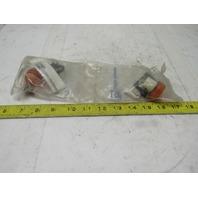 Cutler Hammer E22H9 Ser 1A Amber Lens Indicating Pilot Light Unit Lot Of 2