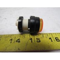 Telemecanique D8V1Y Amber Lens Pilot Light Bezel Lot Of 3