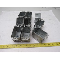 "Appleton 3"" x 2"" x 2-1/2"" Deep Galv Steel Electrical Single Gang Lot Of 9"