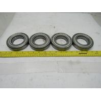 6212-ZZ 60mm Bore 110mm OD Single Row Shielded Ball Bearing Lot Of 4