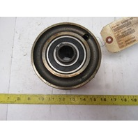 """Dematic 0486921103 5-1/2""""  x 2-5/8"""" Wide Crowned Face End Pulley 1-1/8"""" Hex Bore"""