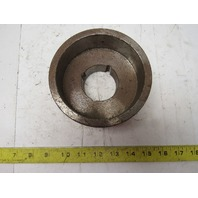 """Micro MFG 5.28"""" x 2-3/8"""" Wide Crowned Face End Pulley Taperlock Bushed 1610"""