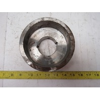 """5.28"""" x 2-3/8"""" Wide Crowned Face End Pulley Taperlock Bushed 1610"""