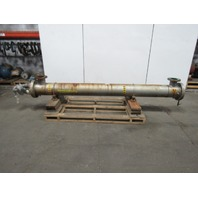 "Shell & Tube Heat Exchanger 11"" OD x 138"" OAL 5' Flanged Port"