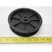 "Dematic 0486921049 5"" OD 1"" Flat Belt Idler Pulley Nylon .515"" Bore"